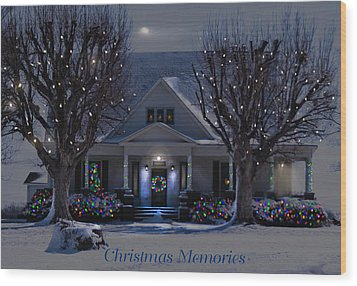 Christmas Memories2 Wood Print by Bonnie Willis