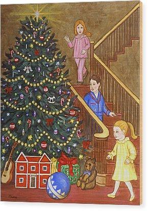 Christmas Morning Wood Print by Linda Mears