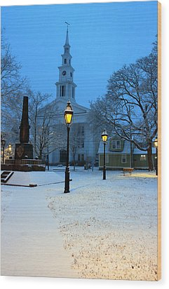 Christmas On The Town Common Wood Print