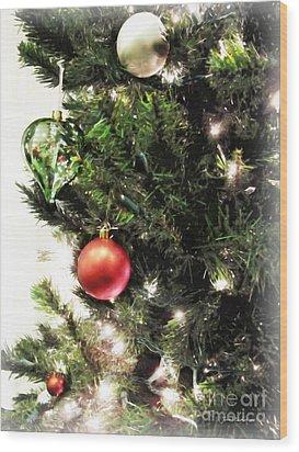 Christmas Ornaments Wood Print by Joan  Minchak