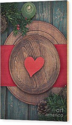 Christmas Ornaments Wood Print by Mythja  Photography