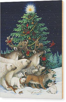 Christmas Parade Wood Print by Lynn Bywaters