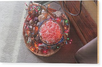 Christmas Pie Wood Print by Diane Mitchell