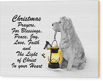 Christmas Prayers Wood Print by Lorna Rogers Photography