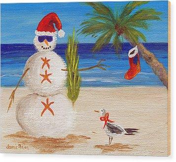 Christmas Sandman Wood Print
