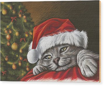 Christmas Special 2 Wood Print by Mahtab Alizadeh