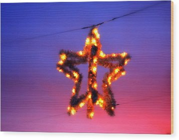 Wood Print featuring the photograph Christmas Star by Aurelio Zucco