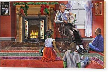 Christmas Story Wood Print by Reggie Duffie