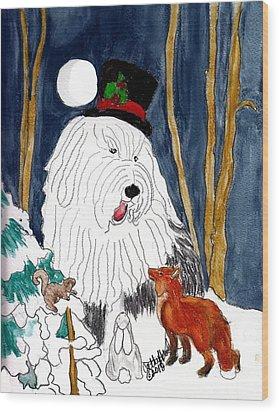 Christmas Story Teller Wood Print