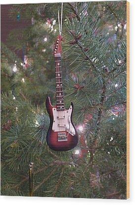 Christmas Stratocaster Wood Print