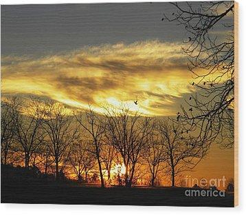 Christmas Sunrise Wood Print