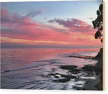 Wood Print featuring the photograph Christmas Sunset by Lora Lee Chapman