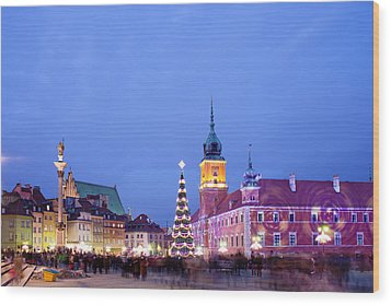 Christmas Time In Warsaw Wood Print by Artur Bogacki