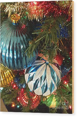 Christmas Time Wood Print by Janet Felts