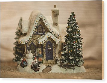 Wood Print featuring the photograph Christmas Toy Village by Alex Grichenko