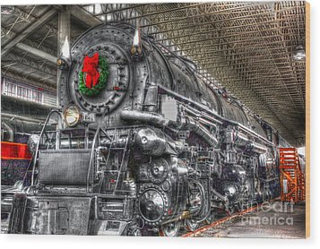 Christmas Train-the Holiday Station Wood Print by Dan Stone