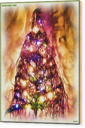 Wood Print featuring the digital art Christmas Tree by Daniel Janda