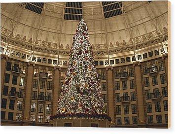 Christmas Tree Wood Print by Sandy Keeton