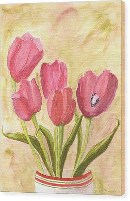 Tulip Time Wood Print by Mickey Krause