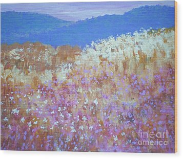 Christmas Valley Oregon Wood Print by Suzanne McKay
