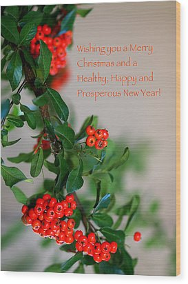 Wood Print featuring the photograph Christmas Wishes by Annette Hugen