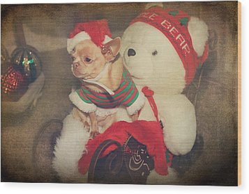 Christmas Zoe Wood Print by Laurie Search