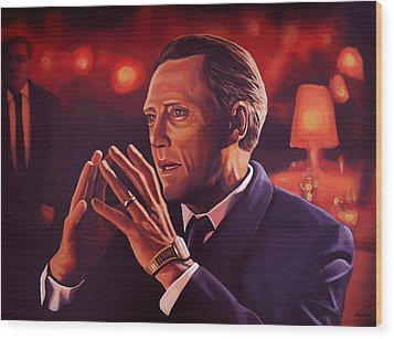 Christopher Walken Painting Wood Print by Paul Meijering