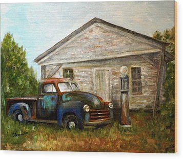 Chromatic Chevy Wood Print