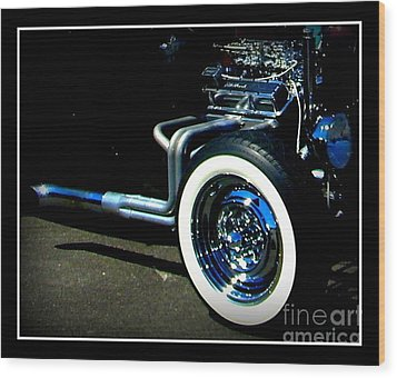 Wood Print featuring the photograph Chrome  by Bobbee Rickard