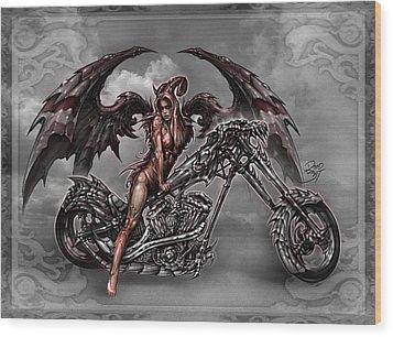 Chrome Dragon Wood Print