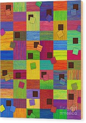 Chronic Tiling Wood Print by David K Small