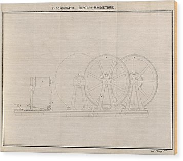Chronograph, 19th Century Artwork Wood Print by Science Photo Library