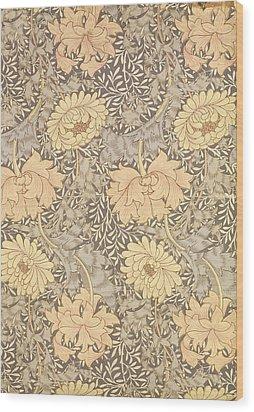 Chrysanthemum Wood Print by William Morris