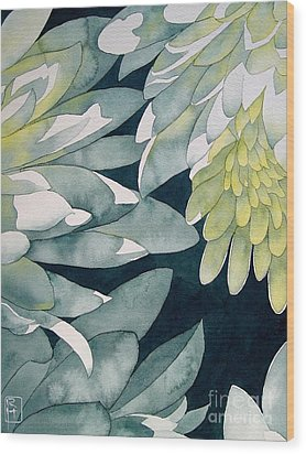 Chrysanthemums Wood Print by Robert Hooper