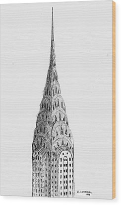 Chrysler Building Wood Print by Al Intindola