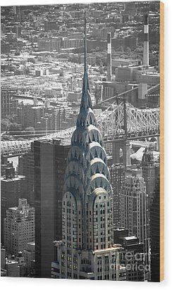Wood Print featuring the photograph Chrysler Building by Angela DeFrias