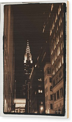 Chrysler Building Wood Print by Donna Blackhall