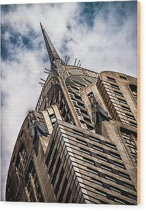 Wood Print featuring the photograph Chrysler Building by James Howe