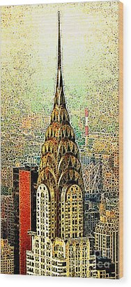 Chrysler Building New York City 20130503 Wood Print by Wingsdomain Art and Photography
