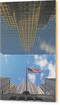Chrysler Building Reflections Vertical 2 Wood Print by Nishanth Gopinathan
