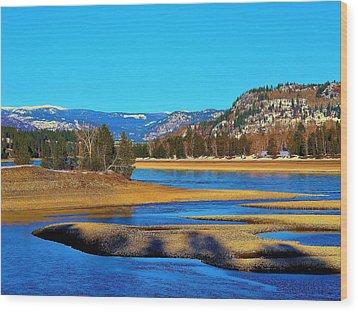 Chrystal Blue Columbia Wood Print