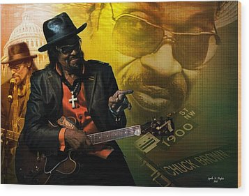 Chuck Brown Wood Print