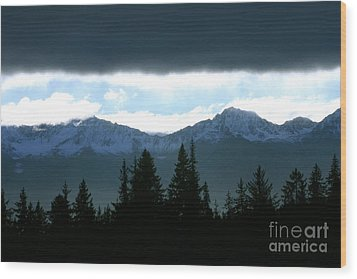 Chugach Mountains Wood Print by Crystal Magee