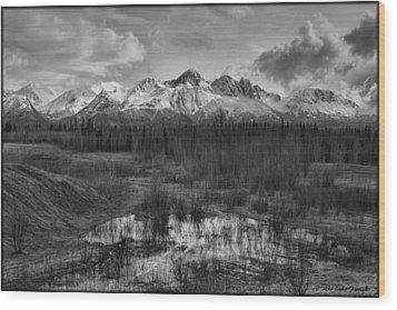 Chugach Mtn Range Wood Print