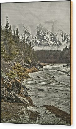 Chugach Range Wood Print