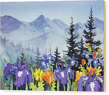 Wood Print featuring the painting Chugach Summer by Teresa Ascone
