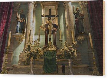 Church Altar Wood Print by Aged Pixel