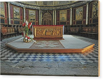 Wood Print featuring the photograph Church Alter Provence France by Dave Mills