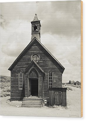 Wood Print featuring the photograph Church At Bodie by Jim Snyder
