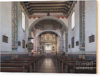 Church At Mission San Luis Rey Wood Print by Sandra Bronstein